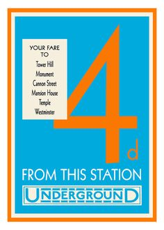 London Underground Tube Fare Poster Vintage Print  by customthings