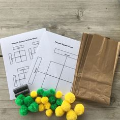 Pompom Punnett Square - AgClassroomStore at USU Science Lessons, Science Education, Life Science, Punnett Square Activity, Dna Transcription And Translation, Curriculum, Homeschool, High School Biology, Teaching Biology