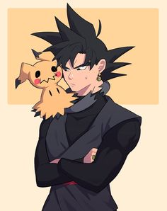 Black Goku and Mimikyu