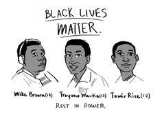 CALLUM GREEN cwilgreen @ tumblr - Black Lives Matter - Rest in Power -  Mike Brown - Trayvon Martin - Tamir Rice