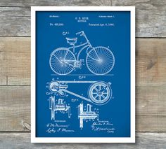 Porsche car blueprint patent wall art poster by blueprintposters shop for bicycle wall art on etsy the place to express your creativity through the buying and selling of handmade and vintage goods malvernweather Gallery