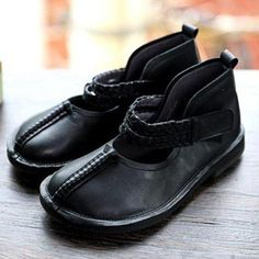 Vintage Low Heel Hook Loop Artificial Leather Loafers Womens Comfy Sho – cuteshoeswear black loafers loafers with socks loafers style loafers for women outfit cute loafers Loafers With Socks, Black Loafers, Casual Loafers, Leather Loafers, Loafer Flats, Loafers For Women Outfit, Artificial Leather, Comfy Shoes, Custom Shoes