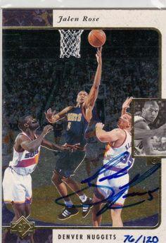 Jalen Rose 2000 Upper Deck authentic autographed basketball card  FOLLOW http://stores.ebay.com/WHOLESALE-BARGAINS2014