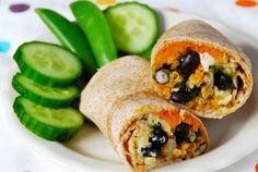 Black Bean & Quinoa Freezer Burritos | simple balance