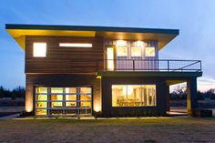 Urban Modern Home.in the country. Cedar Rain Screen · Commercial Glass Windows · Galvalume metal · Galvalume siding · Glass Garage Door · Horizontal Window · Large Eaves · Metal Planter · Opening Wall · Painted Block · R Panel Siding · Rain Screen Sidi Modern Exterior, Exterior Design, My Home Design, House Design, Building Design, Building A House, Glass Garage Door, Garage Doors, Residential Roofing