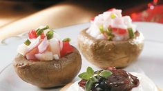 Teriyaki Seafood-Stuffed Mushrooms Recipe