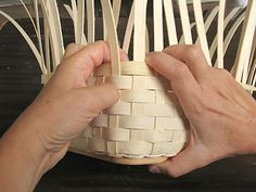 Square corners and great support PowerPoint youtube video link at this site for basket construction