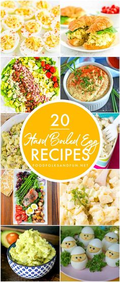 This Hard Boiled Egg Recipes Roundup has all of the recipes that you need to use up leftover Easter eggs! Here you'll find leafy salads, deviled eggs, egg salads, and more! # Informations About 20 Hard Boiled Egg Recipes Roundup Egg Recipes For Dinner, Healthy Egg Recipes, Easy Egg Recipes, Egg Recipes For Breakfast, Top Recipes, Healthy Meals, Yummy Recipes, Devilled Eggs Recipe Best