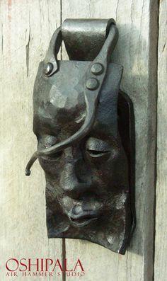 ovenkolkuttimet/door knocker by Jesse Sipola Seppä/Artist Blacksmith