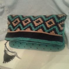 BOLSO DE MANO ( CLUCH ) #ganchillo #crochet #bolso