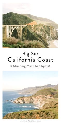 The top 5 most beautiful places you must see in Big Sur along the California Coast for your day trip or weekend getaway! Here are some top sights and hidden gems for your road trip itinerary along the Pacific Coast Highway (Highway 1) that are an easy drive from San Francisco. Travel tips such as hotel and restaurant suggestions included! #visitCA #bigsur #travel #california #USA Beautiful Places To Visit, Cool Places To Visit, Places To Travel, Travel Destinations, Places To Go, Visit California, California Coast, California Travel, California Honeymoon