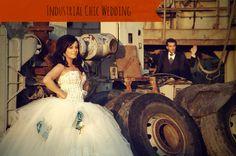 #Industrial #Chic #Wedding #Theme on Marry Me Metro, a city wedding blog http://marrymemetro.com
