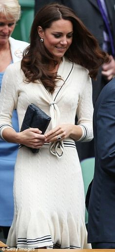 Kate wear vintage tennis style at Wimbledon