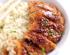 Recette : Poitrine de poulet croustillantes au miel.
