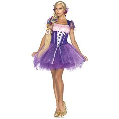 Adult Rapunzel Costume Disney Princess Tangled Fairy Tale Halloween Fancy Dress | eBay US $55.89