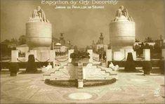 Jardin du pavillon de la manufacture de Sèvres - Exposition Arts décoratifs Paris 1925
