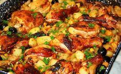 Tepsis burgonyás csirke