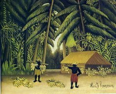 The Banana Harvest Henri Rousseau China Wholesale Oil Painting Wholesale Picture Frame Henri Rousseau, Jungle Scene, Avant Garde Artists, Post Impressionism, Naive Art, Outsider Art, Art Plastique, Cartoon Drawings, Artist At Work