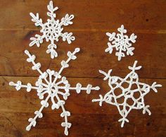 Decorate your home with these lovely #crochet snowflakes. Keep them up even after the holiday season.