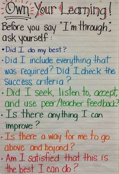 Visible learning - Fieldcrest Grade Eight Own Your Learning Student checkin before saying Teaching Strategies, Teaching Tools, Teaching Resources, Teaching Ideas, Classroom Posters, School Classroom, Classroom Ideas, Grade 8 Classroom, Classroom Contract