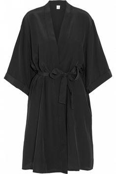 Mimi Holiday by Damaris Silk Crepe de Chine Robe // black robe