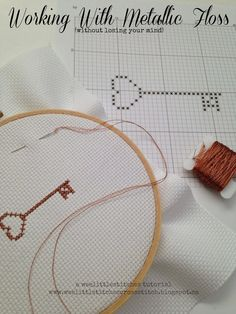 weelittlestitches: Working with Metallic Floss