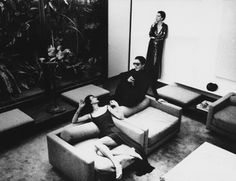 Halston, Elsa Peretti and model at Halston's townhouse for Vogue, photograph by Deborah Turberville, 1975.