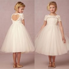 dress mouse on sale at reasonable prices, buy 2015 Ball Gown Lace Knee-Length Pageant Dresses for Little Girls Short Sleeves Vintage Flower Girl Dress for Weddings from mobile site on Aliexpress Now! Little Girl Pageant Dresses, Girls Bridesmaid Dresses, Baby Girl Dresses, Tulle Flower Girl, Ivory Flower Girl Dresses, Flower Girls, Dress Lace, Tea Length Dresses, Ball Dresses