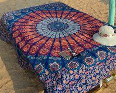 ☾❂☽ Queen Orange Sunset Mandala ☾❂☽ www.thirteenblessings.bigcartel.com