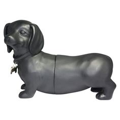 Danya B Cement Dogs Bookend Set - Black