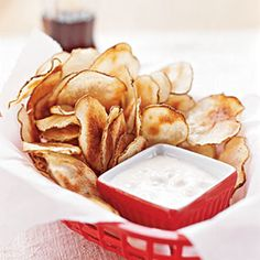 Potato Chips with Blue Cheese Dip Recipe