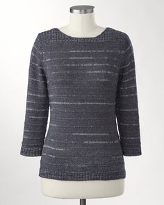 Ribbony stripes pullover....am I only liking this because it's the cutest among the ugly things I keep seeing?  I really detest the styles that are out right now!