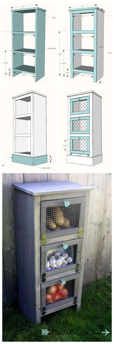 Ana White | Build a Vegetable Bin Cupboard | Free and Easy DIY Project and Furniture Plans: