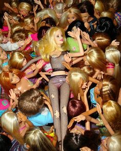 stage dive Barbie