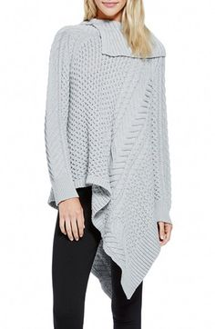 Vince Camuto Asymmetrical Mix Stitch Turtleneck Sweater (Regular & Petite) available at #Nordstrom