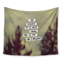 """East Urban Home Her Life by Rachel Burbee Wall Tapestry Size: 50"""" H x 60"""" W"""