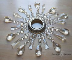 How to add crystals to a chandelier pinterest chandeliers diy crystal vanity light shades aloadofball Choice Image