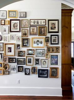 Gallery wall .....family photos, old and new