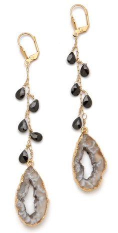 geode earrings, gorgeous! | Dara Ettinger Yvette Earrings
