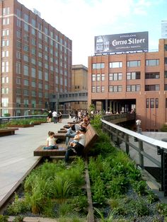 The High Line, NYC; where I was filmed eating a popsicle for a Japanese documentary