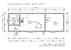 Reference | M-Domky Vysočina - zakázková výroba mobilních domů Floor Plans, Diagram