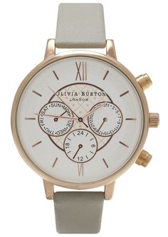 Olivia Burton CHRONO DETAIL WATCH - GREY & ROSE GOLD in GREY AND ROSE/GOLD