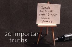 20 Important Life Truths Everyone Should Know.