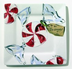 love this hand painted cookie tray - my grandma would love this!