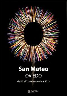 3º puesto cartel para las fiestas de San Mateo de Oviedo 2013