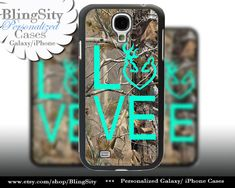 Buck Doe Love Heart Galaxy S4 case S5 Camo Browning RealTree Tree Deer Camo Samsung Galaxy S3 Case Note 2 3 4 Cover Country Girl by BlingSity