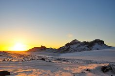 Sunset from a Glacier in Iceland via: Behind The Lens Lukey #travel #photography