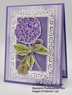 Butterfly Cards, Flower Cards, Hydrangea Bloom, Hydrangeas, Hydrangea Garden, Tarjetas Stampin Up, Image Stamp, Stampinup, Stamping Up Cards