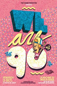 We Are The Soirée années 90 Fresh n fresh sounds getting jiggy since 2007 90s Design, Retro Design, Print Design, Cover Design, Photoshop, Poster S, Design Graphique, Cindy Crawford, Grafik Design