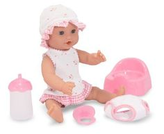 Melissa  Doug Mine to Love Annie 12Inch Drink and Wet Poseable Baby Doll With Potty Bottle Pacifier Diaper Dress ** Check out this great product. Note:It is Affiliate Link to Amazon.